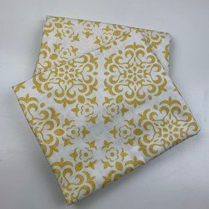 Envogue Yellow/Gold White Medallion Curtain Panels